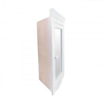 <PRE>Corner Medicine Cabinet White Hardwood Wall Mount Recessed Mirror Set of 2</PRE>zoom5
