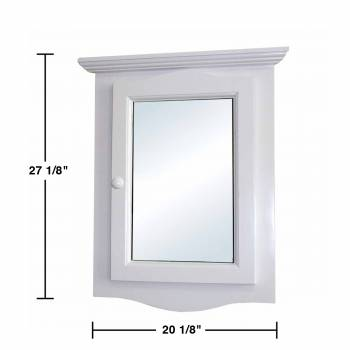 spec-<PRE>Corner Medicine Cabinet White Hardwood Wall Mount Recessed Mirror Set of 2</PRE>