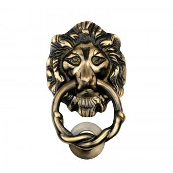 Door Knocker Lion Antique Brass 6 14 H x 3 58 W Lion Door Knocker Antique Brass Door Knockers Door Knockers For Front Door