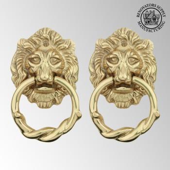 <PRE>Door Knocker Lion Cast Brass 6 1/4 H x 3 5/8 W Pack of 2</PRE>zoom2