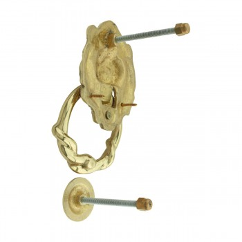Door Knocker Lion Cast Brass 6 14 H x 3 58 W Pack of 2 Brass Door Knocker Solid Brass Door Knocker Solid Brass Door Knockers