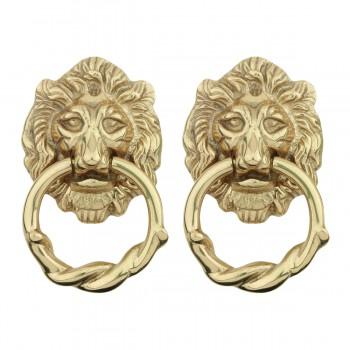 <PRE>Door Knocker Lion Cast Brass 6 1/4 H x 3 5/8 W Pack of 2</PRE>zoom1