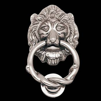 <PRE>Chrome Brass Door Knocker Lion Door Knocker 6 1/4 H X 3 5/</PRE>zoom3