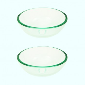 <PRE>Tempered Glass Vessel Sink with Drain, Clear Mini Bowl Sink Set of 2</PRE>