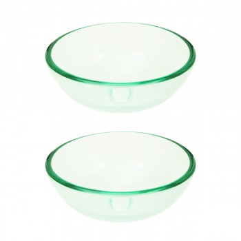 <PRE>Tempered Glass Vessel Sink with Drain, Clear Mini Bowl Sink Set of 2</PRE>zoom1