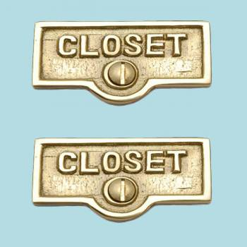 <PRE>2 Switch Plate Tags CLOSET Name Signs Labels Lacquered Brass </PRE>zoom2
