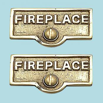 spec-<PRE>2 Switch Plate Tags FIREPLACE Name Signs Labels Brass </PRE>