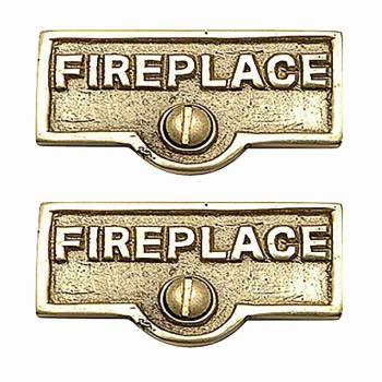 <PRE>2 Switch Plate Tags FIREPLACE Name Signs Labels Brass </PRE>zoom1