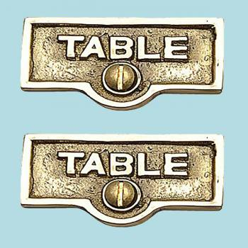 <PRE>2 Switch Plate Tags TABLE Name Signs Labels Lacquered Brass </PRE>zoom2