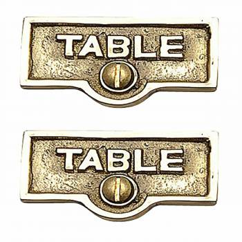 2 Switch Plate Tags TABLE Name Signs Labels Lacquered Brass