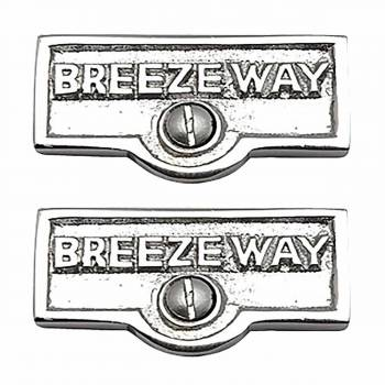 <PRE>2 Switch Plate Tags BREEZEWAY Name Signs Labels Chrome Brass </PRE>zoom1