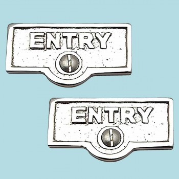 2 Switch Plate Tags ENTRY Name Signs Labels Chrome Brass Switch Plate Labels Switch Plate ID Labels Switch Plate Label