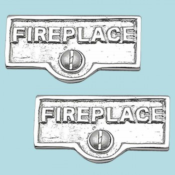 <PRE>2 Switch Plate Tags FIREPLACE Name Signs Labels Chrome Brass </PRE>zoom2