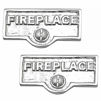<PRE>2 Switch Plate Tags FIREPLACE Name Signs Labels Chrome Brass </PRE>zoom1