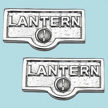 <PRE>2 Switch Plate Tags LANTERN Name Signs Labels Chrome Brass </PRE>zoom2