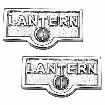 <PRE>2 Switch Plate Tags LANTERN Name Signs Labels Chrome Brass </PRE>zoom1