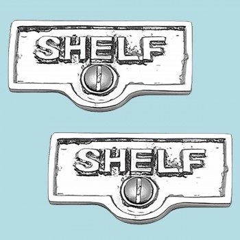 2 Switch Plate Tags SHELF Name Signs Labels Chrome Brass Switch Plate Labels Switch Plate ID Labels Switch Plate Label
