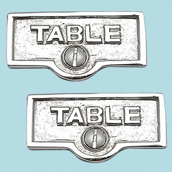 <PRE>2 Switch Plate Tags TABLE Name Signs Labels Chrome Brass </PRE>zoom2