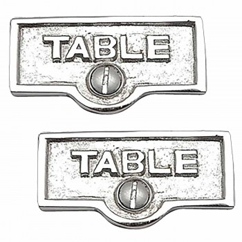 <PRE>2 Switch Plate Tags TABLE Name Signs Labels Chrome Brass </PRE>zoom1