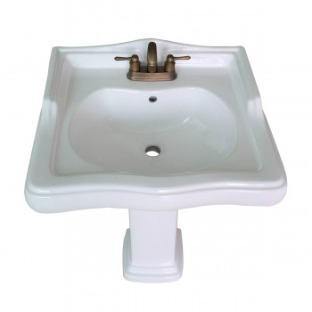 <PRE>Classic White Pedestal Sink China 4inch Centerset Faucet Hole Scratch Resistant </PRE>zoom5