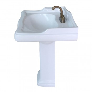 <PRE>Classic White Pedestal Sink China 4inch Centerset Faucet Hole Scratch Resistant </PRE>zoom6