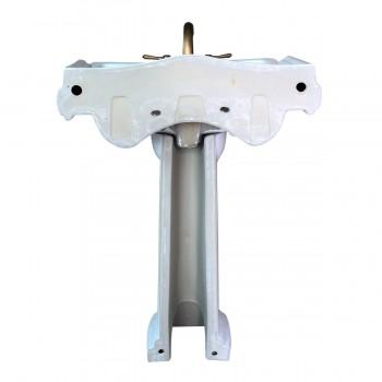<PRE>Classic White Pedestal Sink China 4&quot; Centerset Faucet Hole Scratch Resistant </PRE>