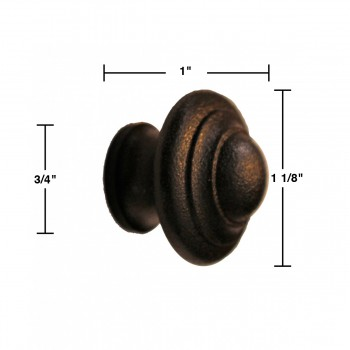 spec-<PRE>10 Wrought Iron Cabinet Knobs Black Round </PRE>
