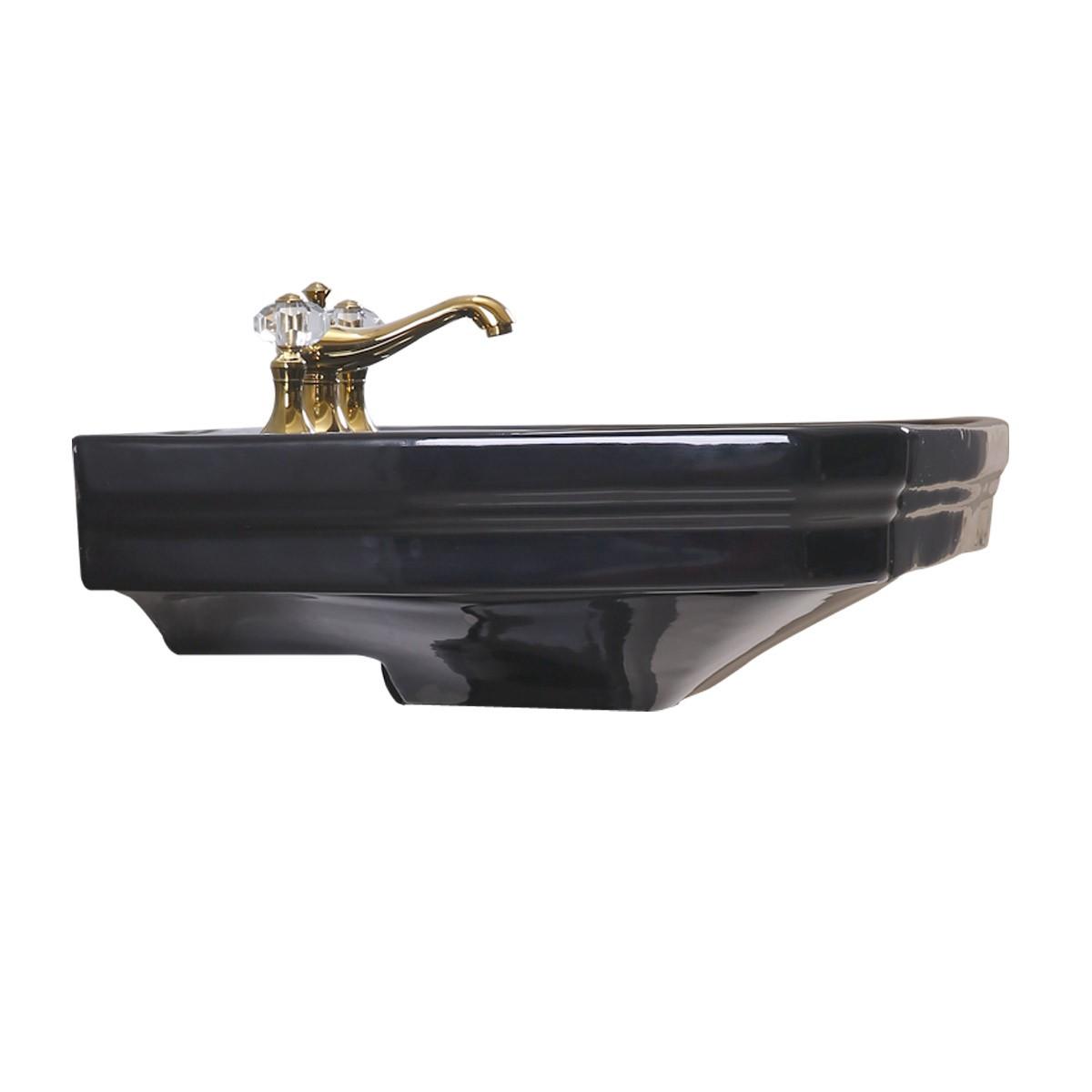 Large Victorian Pedestal Sink Black Porcelain Sink Only Large Victorian Pedestal Sink Black Sink Only Sink Parts Bathroom Sink Part