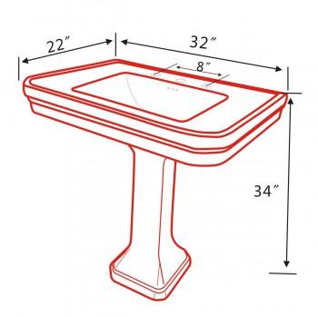 spec-<PRE>Large Victorian Pedestal Sink Black Pedestal  Only</PRE>