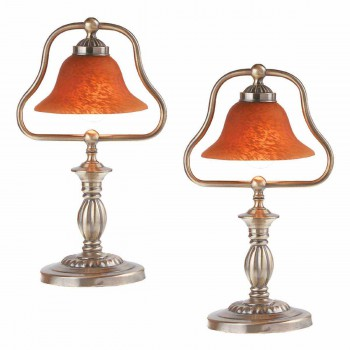 <PRE>2 Table Lamp Amber Antique Brass Lamp 17inchH </PRE>zoom1