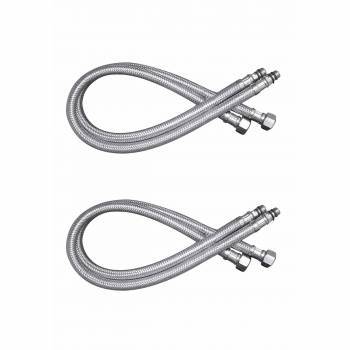 <PRE>Bathroom Faucet Supply Line Stainless 10mm Male 3/8inch Female Pack of 2</PRE>zoom1