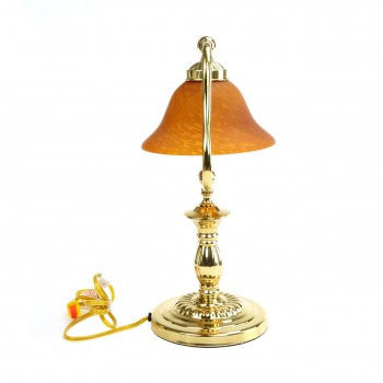 <PRE>2 Table Lamp Amber Polished Brass Table Lamp 17inchH </PRE>zoom7