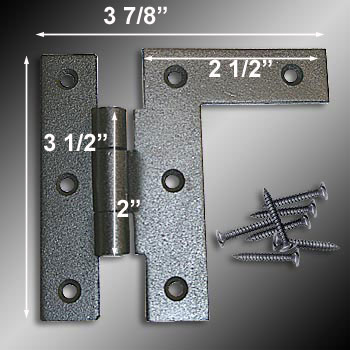spec-<PRE>6 Cabinet Hinges Wrought Iron HL Right Only 3.5&quot;H w/ Offset </PRE>
