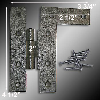 spec-<PRE>6 Cabinet Hinges Wrought HL Hinge Right 4.5&quot;H w/ Offset </PRE>