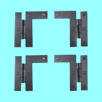"<PRE>Pair Left and Right H-L Wrought Iron Cabinet Hinge 3.5inch H, 3/8"" Offset Pack of 2</PRE>zoom2"