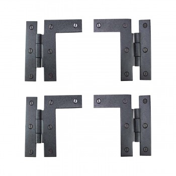 Pair Left and Right HL Wrought Iron Cabinet Hinge 35 H 38 Offset Pack of 2