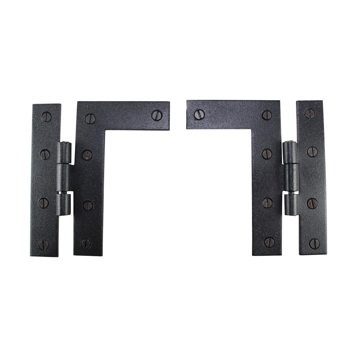 Pair Flush HL Cabinet Hinge Wrought Iron 4.5H Pack of 2 Door Hinges Door Hinge Solid Brass Hinge