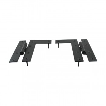 <PRE>Pair Flush H-L Cabinet Hinge Wrought Iron 4.5inchH Pack of 2 </PRE>zoom7