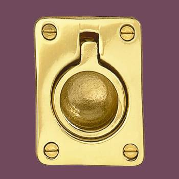 <PRE>Cabinet Pull Bright Solid Brass Ring </PRE>zoom2