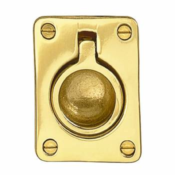 Cabinet Pull Bright Solid Brass Ring 28039grid