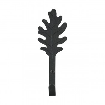 <PRE>4 Black Hooks Wrought Iron Leaf Shape Black  </PRE>zoom4