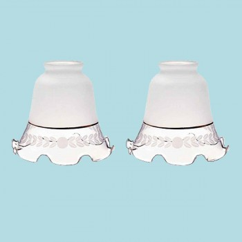 "<PRE>2 Glass Lamp Shades Frosted Glass 4.5inchH x 2.25"" Fitter </PRE>zoom2"