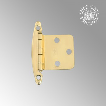 Cabinet Hardware Hinges - Semi-Concealed Flush Hinge Bright Brass 2 3/4 in. x 1 3/4 in. by the Renovator's Supply