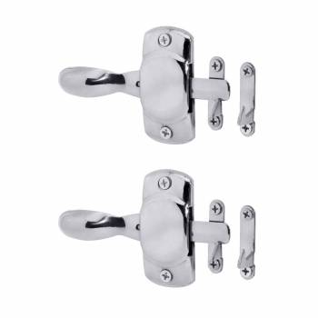 <PRE>Chrome Brass Hoosier Icebox Latch Left Pack of 2 </PRE>zoom1
