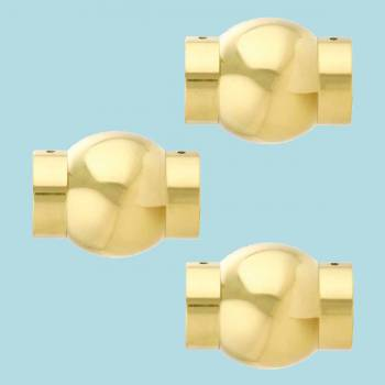 3 Ball Joint Fittings Polished 112 Dia Set of 3 Railing Connectors Brass Railing Connector Brass Railing Connectors