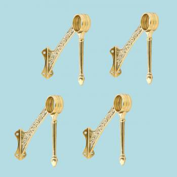 4 Bar Brackets Polished Solid Brass Swing Leg Set of 4 Bar Bracket Bar Hardware Mounting Brackets