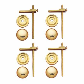 <PRE>4 Cabinet Knobs Solid Bright Brass Turns to Latch 1&quot; </PRE>