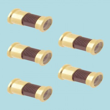 <PRE>5 Door Viewer Brass 160 degree 2 1/16inchL Set of 5</PRE>zoom2