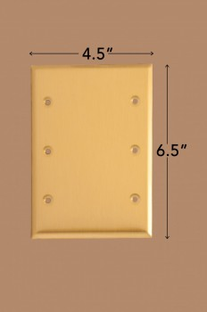 spec-<PRE>2 Switchplate Brushed Brass Beveled Triple Blank </PRE>