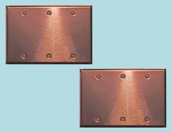 <PRE>2 Switchplate Bright Copper Triple Blank </PRE>zoom2